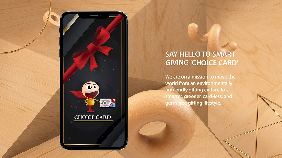Choice Card - #1 gift card that is redeemable globally, for everything and never expire