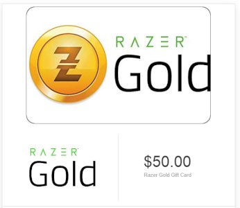 Razer Gold Gift Card - Give a gift of gamers unified virtual credits